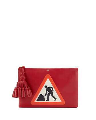 Georgiana Men at Work Clutch Bag, Dark Orange