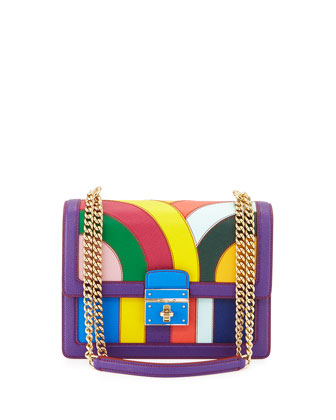 Rosalia Chain Shoulder Bag, Multicolor
