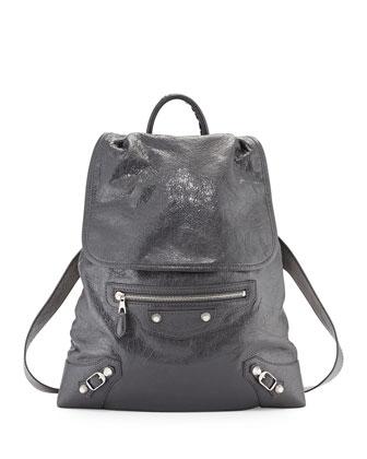 Giant Traveler's Lambskin Backpack, Gray