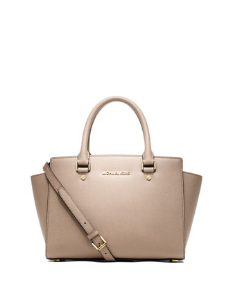 Selma Medium Satchel Bag, Blush
