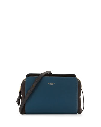 Marche Duo Shoulder Bag, Blue/Black