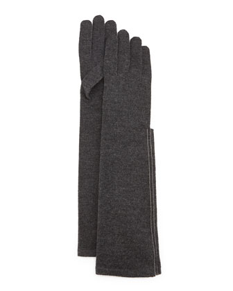 Cashmere Monili Turtleneck Sweater, Cashmere-Blend Gloves & Pencil Skirt ...