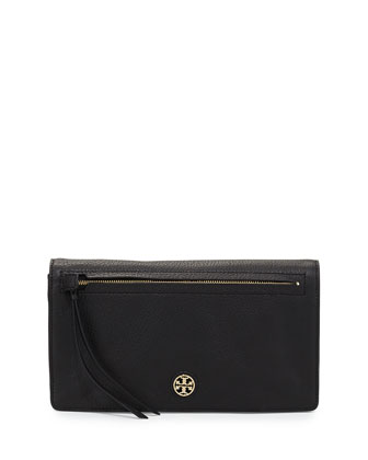 Brody Sheepskin Clutch Bag, Black