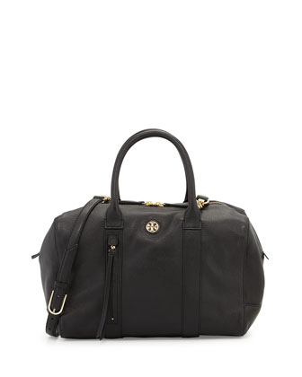 Brody Leather Satchel Bag, Black
