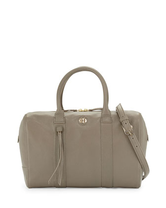 Brody Leather Satchel Bag, Porcini