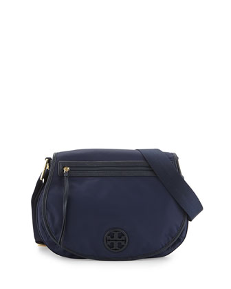 Nylon Messenger Bag, Tory Navy