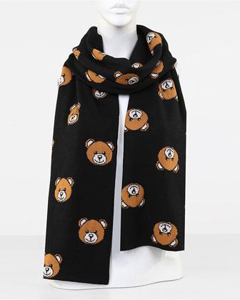 Teddy Bear Knit Scarf