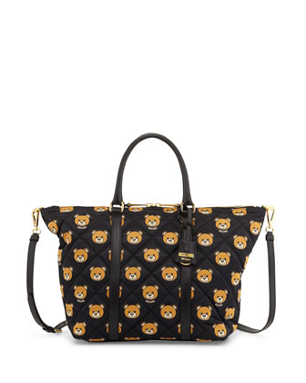 Quilted Medium Teddy Bear Shoulder Bag