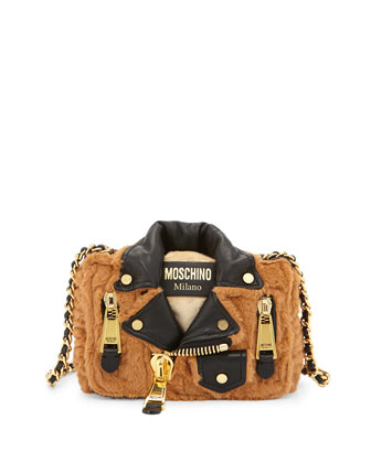 Jacket-Motif Large Shoulder Bag