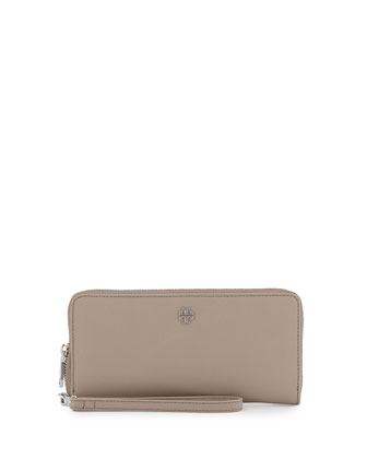 York Zip Passport Continental Wallet, French Gray