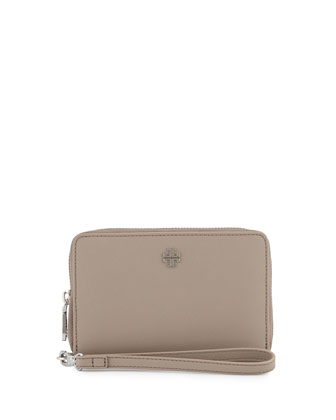 York Smartphone Wristlet Wallet, French Gray