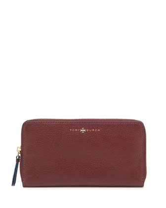 Brody Continental Zip Wallet, Deep Berry