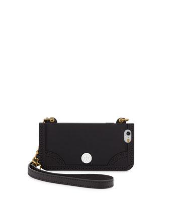 Patchwork Mini Bag Phone Case, Black