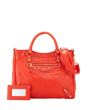 Giant 12 Velo Lambskin Bag, Red Orange