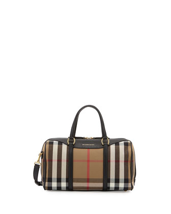 Alchester House Check Medium Derby Satchel Bag, Black