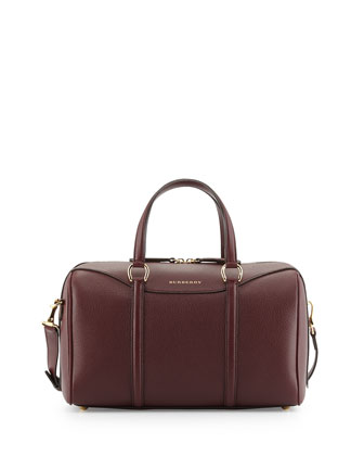 Alchester Derby Medium Satchel Bag, Mahogany Red