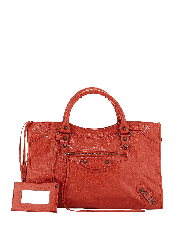 Classic City Bag, Rust (Red) - Balenciaga