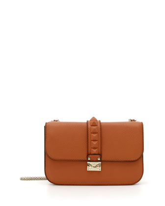 Tonal Rockstud Medium Flap Shoulder Bag, Cuir