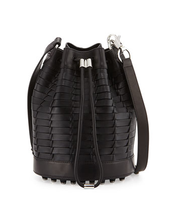 Alpha Napa Leather Bucket Bag