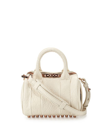 Mini Rockie Dumbo Pebbled Duffel Bag, Opaline
