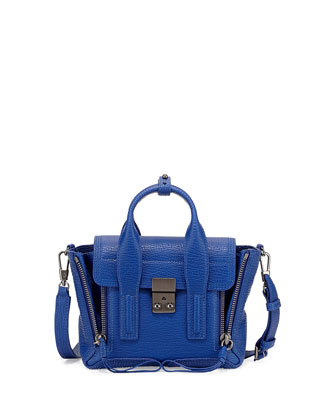 Pashli Mini Satchel Bag, Cobalt