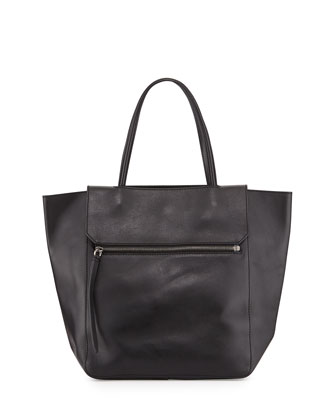 Nova Leather Tote Bag, Black