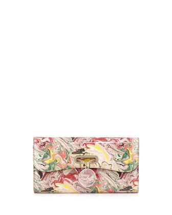 Riviera Patent Swirl Clutch Bag
