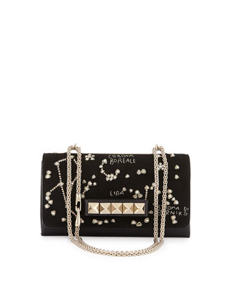 Va-Va-Voom Constellation Embroidered Shoulder Bag