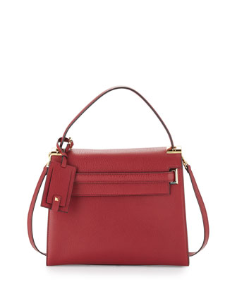 My Rockstud Satchel Bag, Dark Red