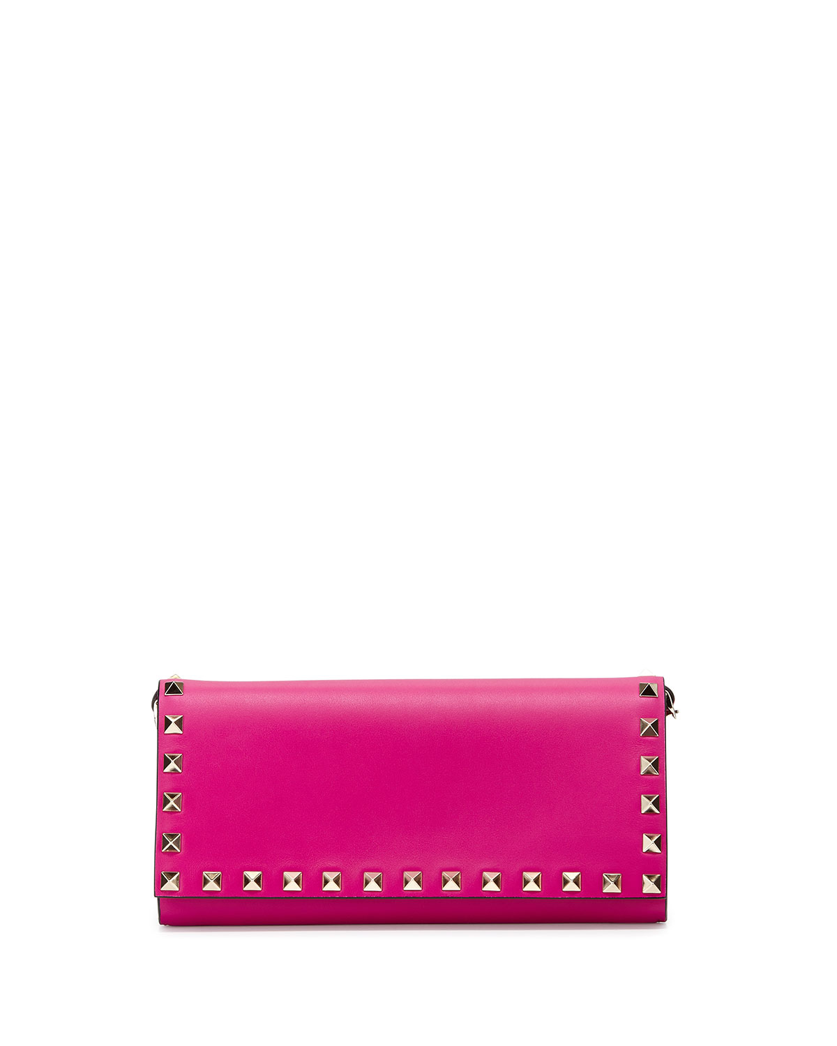 Rockstud Wallet-on-Chain, Pink - Valentino