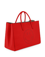 Ebury Maxi Smiley Tote Bag, Bright Red