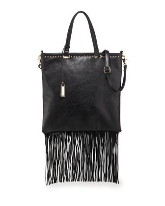 Runway Lover Shopper Tote Bag, Black