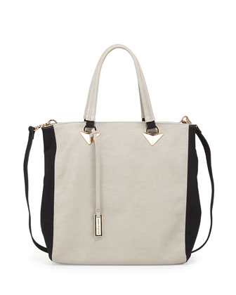 Liberty Colorblock Tote Bag, Stone/Black