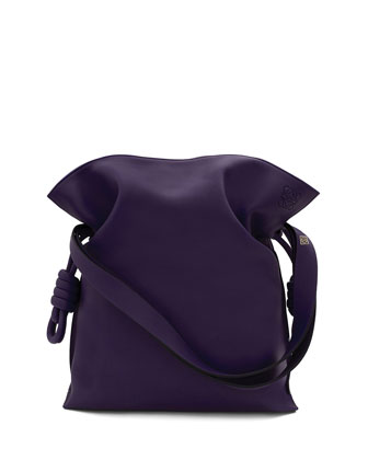Flamenco Knot Bucket Bag, Violet