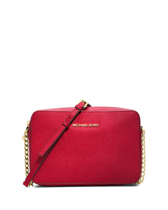 Jet Set Travel Large Crossbody Bag, Chili