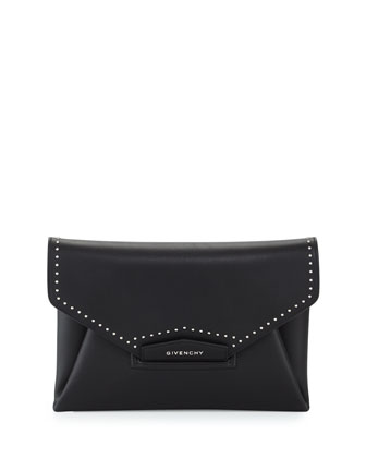 Antigona Medium Studs Couture Clutch Bag, Black
