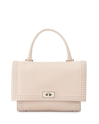 Shark Small Stud Couture Shoulder Bag, Nude