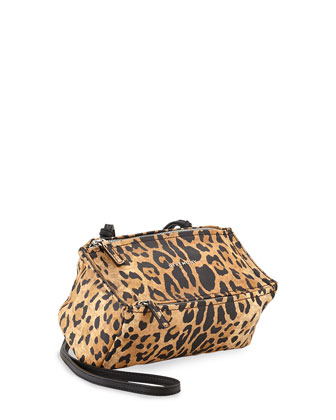 Pandora Mini Leopard-Print Crossbody Bag