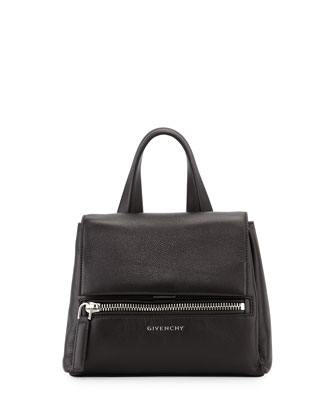 Pandora Pure Mini Leather Satchel Bag, Black