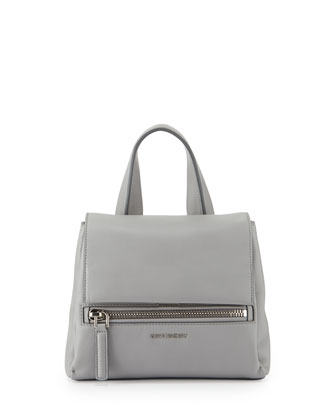 Pandora Pure Mini Leather Satchel Bag, Gray