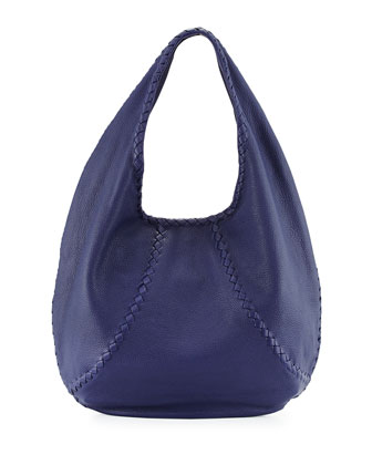 Cervo Large Open-Shoulder Hobo Bag, Royal Blue