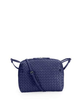 Intrecciato Messenger Bag, Royal Blue