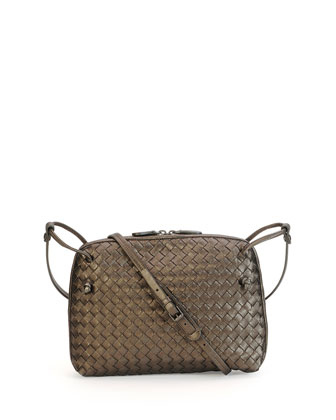 Intrecciato Messenger Bag, Bronze