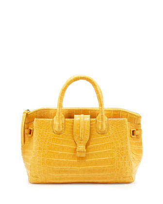 Cristina Small Colombia Tote Bag, Yellow Matte