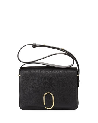 Alix Flap Shoulder Bag, Black