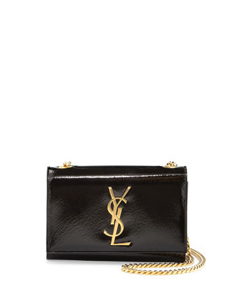 Monogram Small Crossbody Bag, Nero