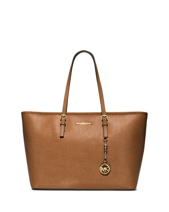 Jet Set Medium Zip-Top Tote Bag, Luggage