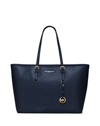 Jet Set Medium Zip-Top Tote Bag, Navy