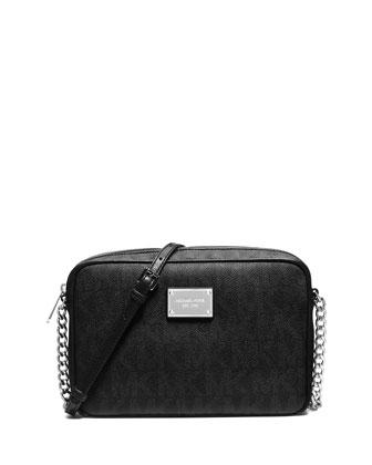 Jet Set Large Crossbody Bag, Black