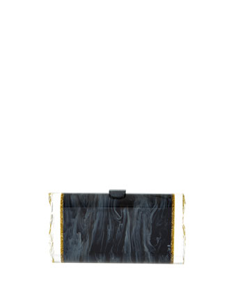 Lara Acrylic Ice Clutch Bag, Black